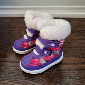 Weather Spirits Purple Kids Winter Boots Size 5